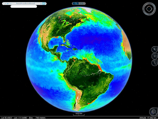 Interactive earth sciox Image collections